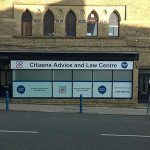 The offices of Kirklees Citizens Advice & Law Centre in Huddersfield.